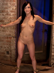 Elise is bound in the Flying Rubens a brutal Category 5 suspension Caned & made to cum, hard!